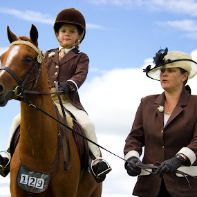 by Jasmine Graham - People Family ( child, horse, equestrian )