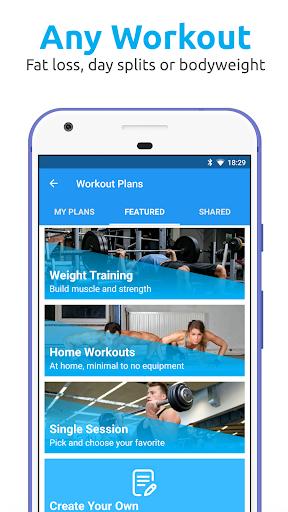 JEFIT Workout Tracker, Weight Lifting, Gym Log App 10.44 screenshots 2