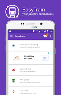 App Mobile IRCTC Ticket Booking Live Train PNR Status APK for Windows Phone