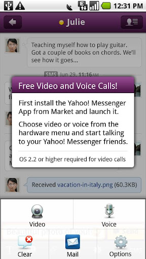 Yahoo Messenger Plug-in screenshot 1