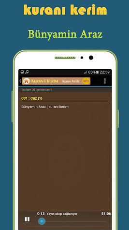 hafız Bünyamin Araz kuranı mp3 Screenshot