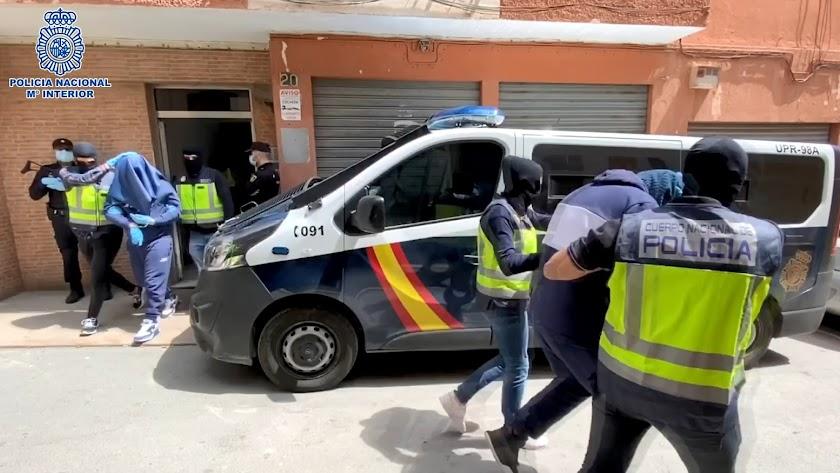 Imagen de los arrestos difundida por la Policía.