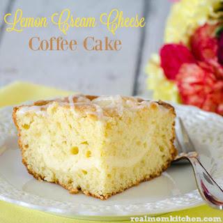 Bright and Sunny Lemon Cream Cheese Coffee Cake.