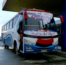 Photo: Our bus refueling at Baenza