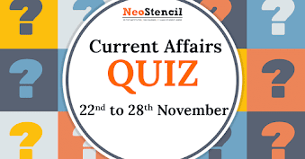 Current Affairs Quiz (22 – 28 November, 2017)