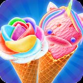 Tải Game Tươi sáng Unicorn & Rainbow Rose Ice Cream! Đầu bế
