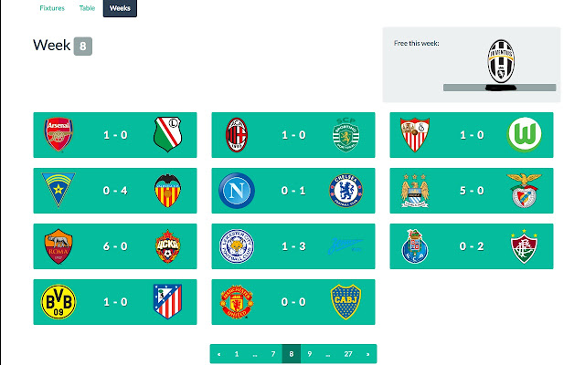 Fifa generator week view plugin