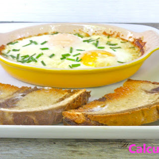 Baked Eggs with Parmesan and Chives Recipe
