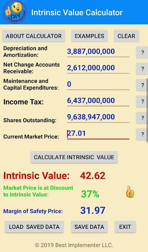 Warren Buffett Intrinsic Value Calculator by DIY Implementer
