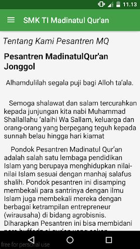 Profil SMK TI Madinatul Qur'an