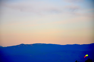Photo: Windsock on the other peak