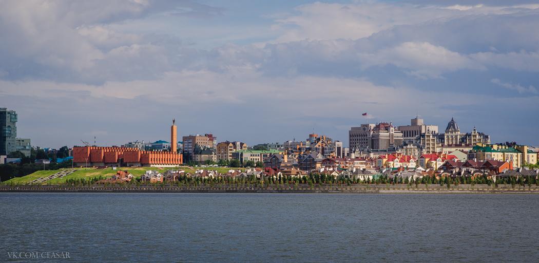 Вид с набережной, Казань