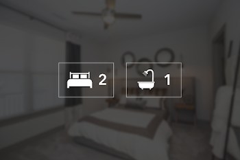 Go to Two Bed, One Bath Apartment Floorplan page.