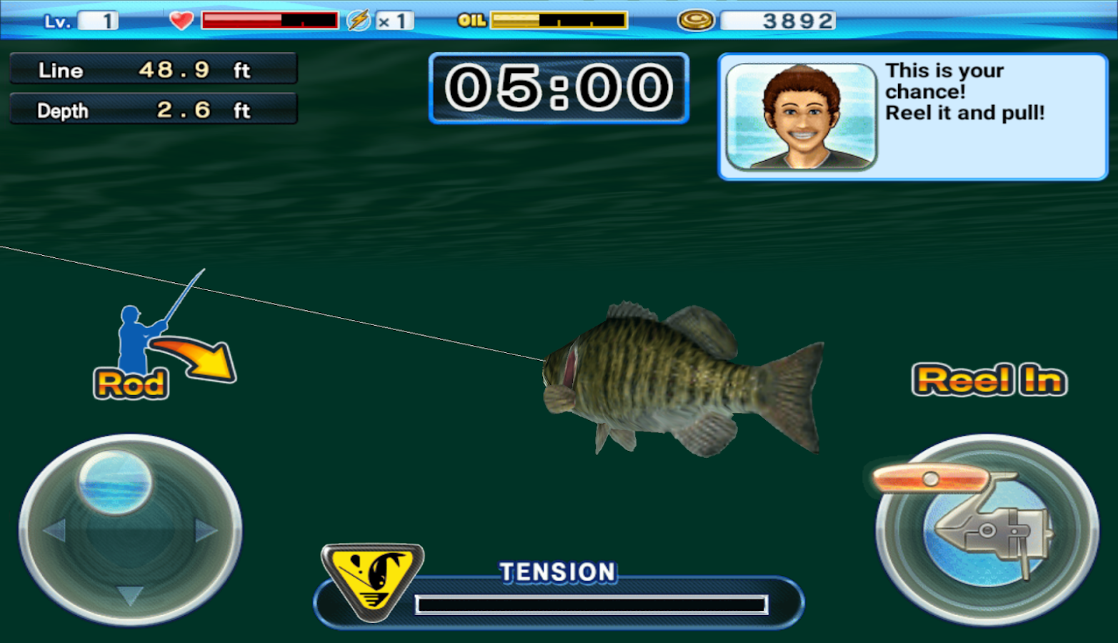 Bass 39 n 39 guide lure fishing android apps on google play for Fishing games for free