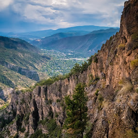 Looking down on Glenwood Springs by Matt Workman - Landscapes Mountains & Hills ( clouds, mountains, landscape photography, valley, landscapes, landscape )