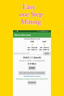 Free Bitcoin Miner - Easy mining, Quick payouts - náhled
