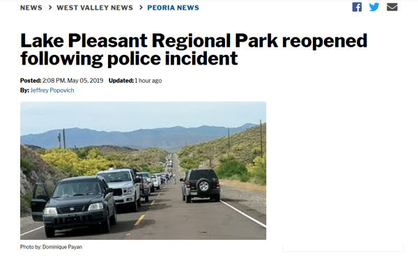 Police Incident at Lake Pleasant