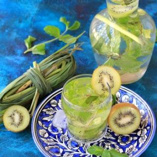 Kiwi, Mint And Lemongrass weight loss water.