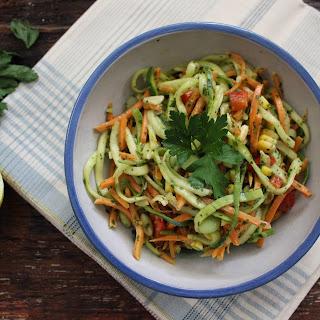 Spiralized Grilled Vegetable Salad