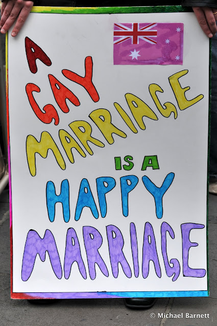 A gay marriage is a happy marriage