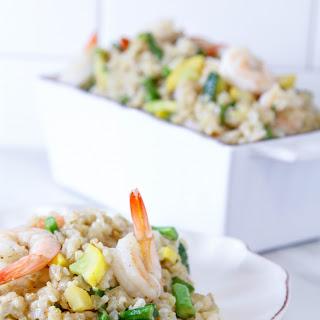 Germinated Rice With Shrimp & Veggies