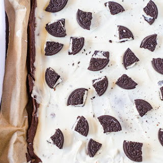 Cookies and Cream Brownie Brittle Bark