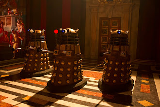 Photo: Exterminate! The Daleks are back for The Time of the Doctor...