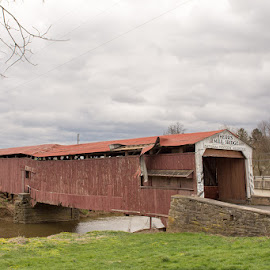 Herr's Mill Covered Bridge by Jerry Hoffman - Buildings & Architecture Decaying & Abandoned