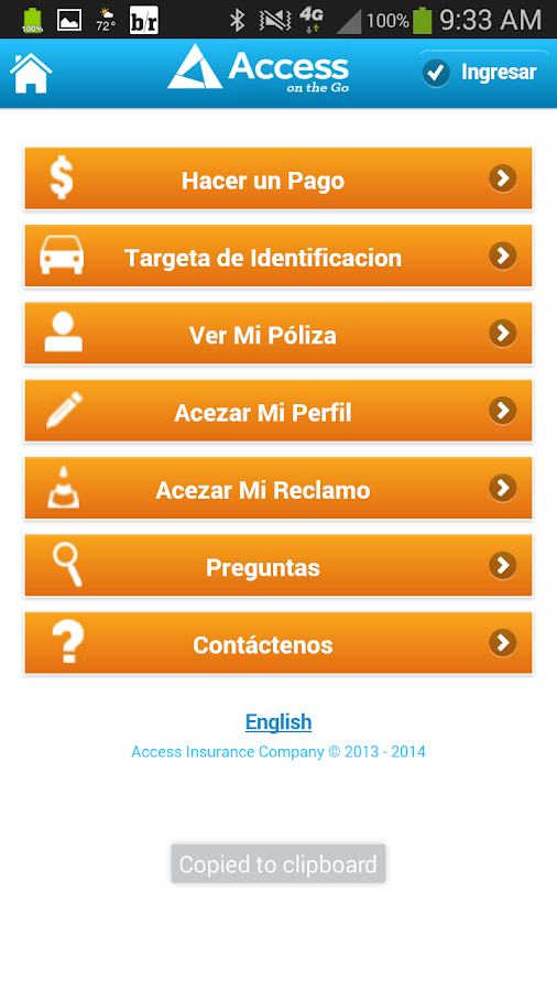 Access Mobile- screenshot