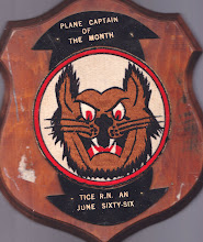 Photo: Robert Tice - Plane Catpain of the month, June '66 Plaque