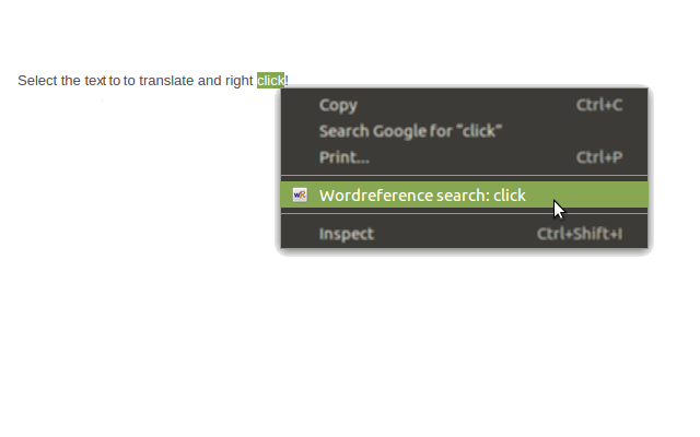 Right click wordreference search chrome web store use the right click menu to translate for selected text in wordreference malvernweather Gallery