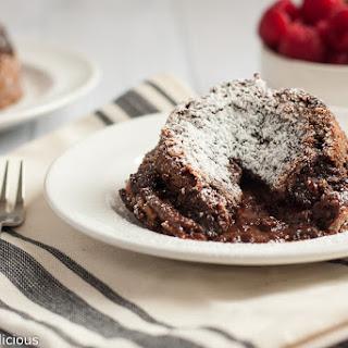 Flourless Molten Chocolate Lava Cake {Gluten Free}