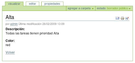Photo: I18n y l10n al Español del producto PloneTask - Vista de prioridades