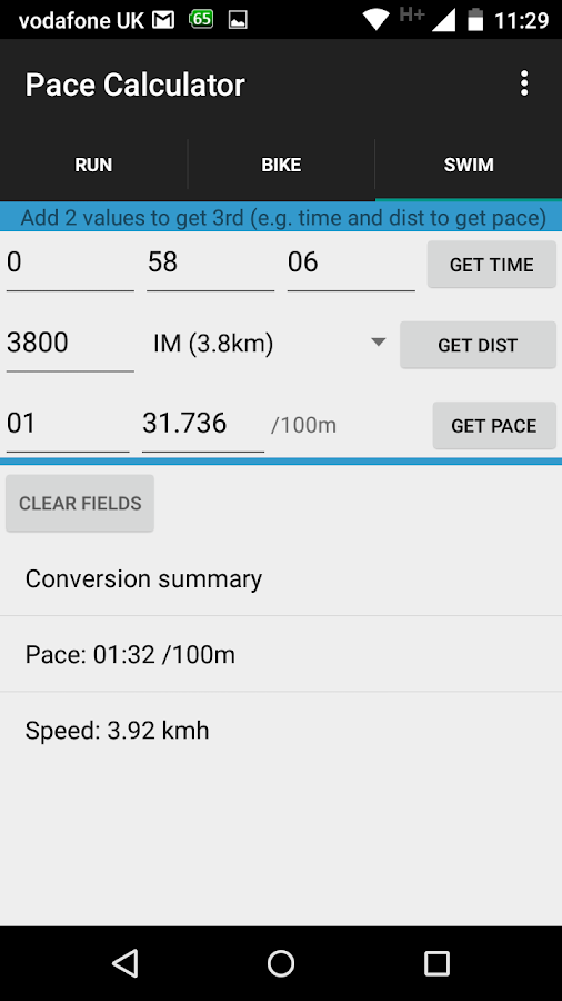 Triathlon Pace Calculator- screenshot