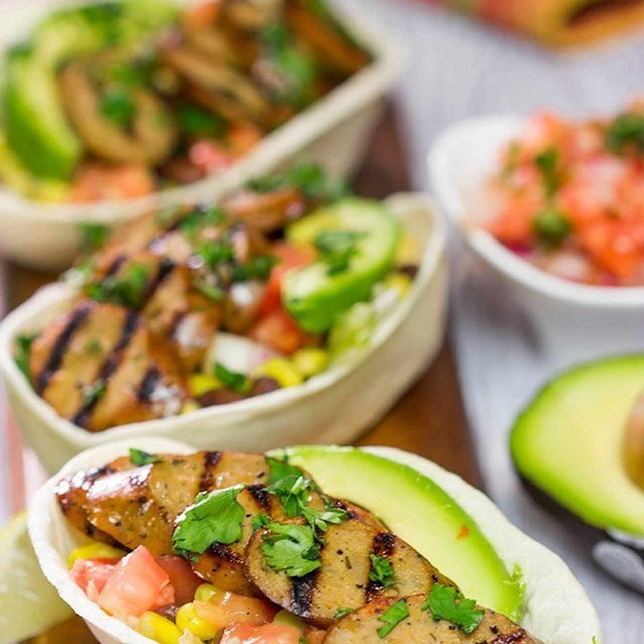 Easy Taco Bowls  behind Mild Mexican Chicken Sausage