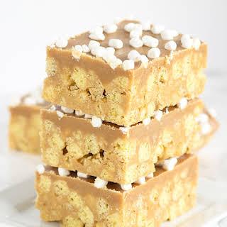 No Bake Peanut Butter Cereal Bars.