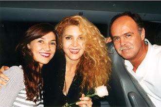 Photo: With Brazilian singer Vanderleia and journalist Claudio Pereira