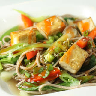 Soba Noodles With Tofu in Ginger Broth.