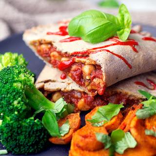 Gluten-free Vegan Chickpea Calzone