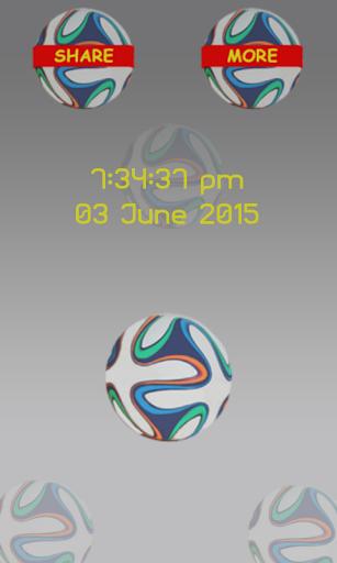 サッカーの画面ロック