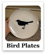 Bird Silhouette Plates