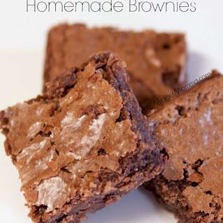 Homemade Brownies Using Homemade Brownie Mix.