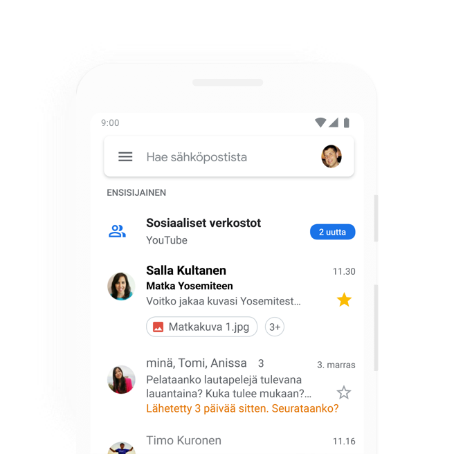 Gmail Tallennustila