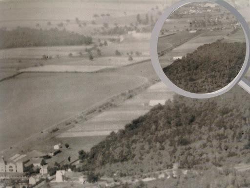 Vue de l'emplacement du hangar à Bois D'Arcy