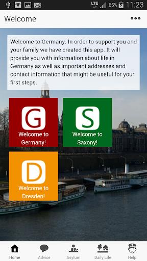 Welcome-App Dresden