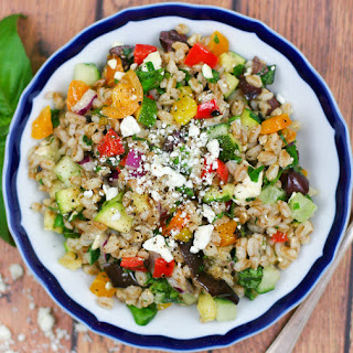Farro Salad with Summer Vegetables