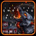 Flaming Wolf Keyboard Theme icon