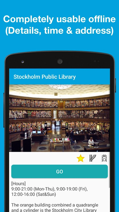 Pilot for Stockholm guide- screenshot