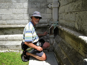 Photo: More geo-caching at the cathedral. This one was well-hidden!
