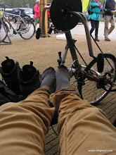 Photo: nu al pijn in mijn voeten, ff frisse lucht er bij.